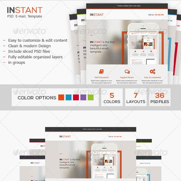 Instant - Business PSD Email Template