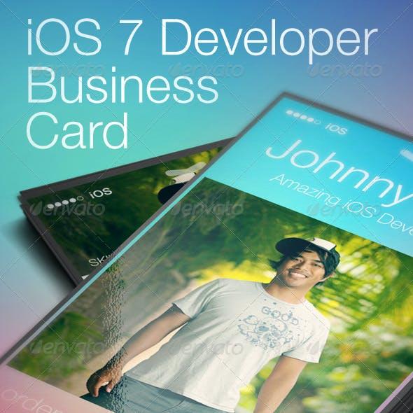 iOS 7 Developer Business Card