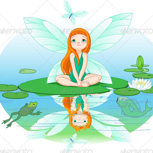Fairy Observes for Flying Butterfly