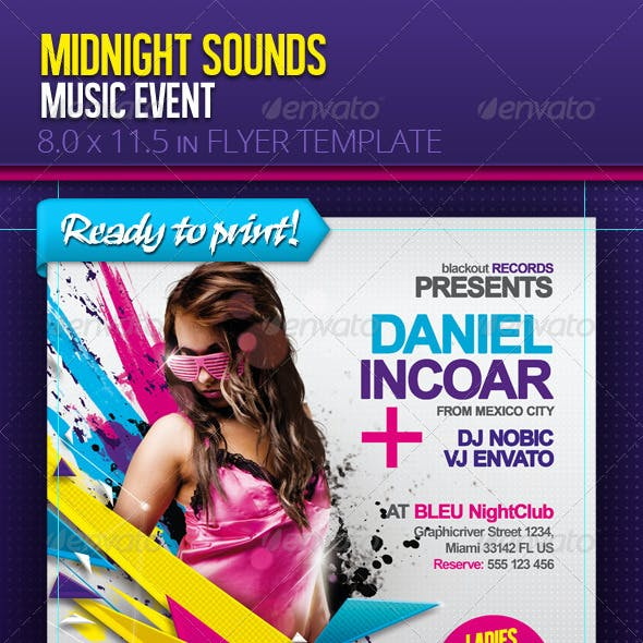 Electro Music Event - Flyer Template