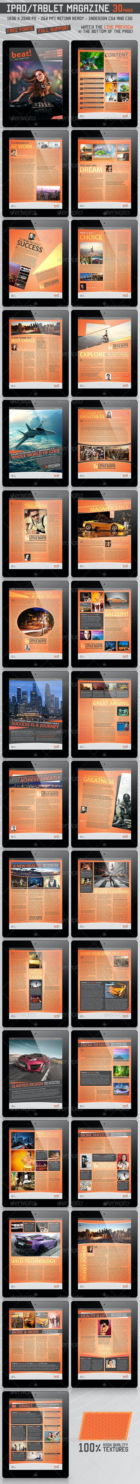 Tablet Retina Magazine Template v.2 30 Pages  - Digital Magazines ePublishing