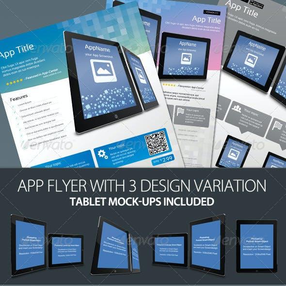 Promotion App Flyer with Tablet Mock-ups