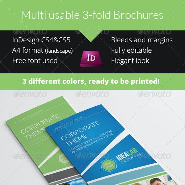 Modern Multiuse Business 3-fold Brochure