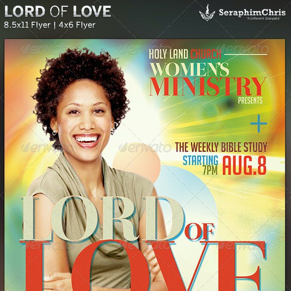 Lord of Love: Church Flyer Template
