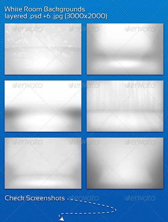 White Room Backgrounds - 3D Backgrounds