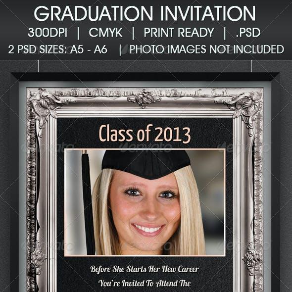 Graduation Party Degree Invitation
