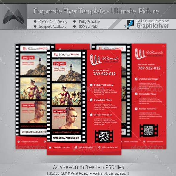 Ultimate Movie and Photography - A4 Flyer