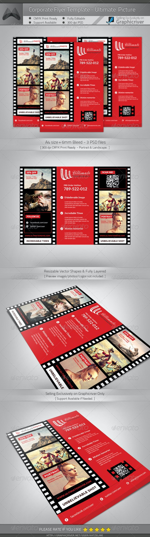 Ultimate Movie and Photography - A4 Flyer - Commerce Flyers