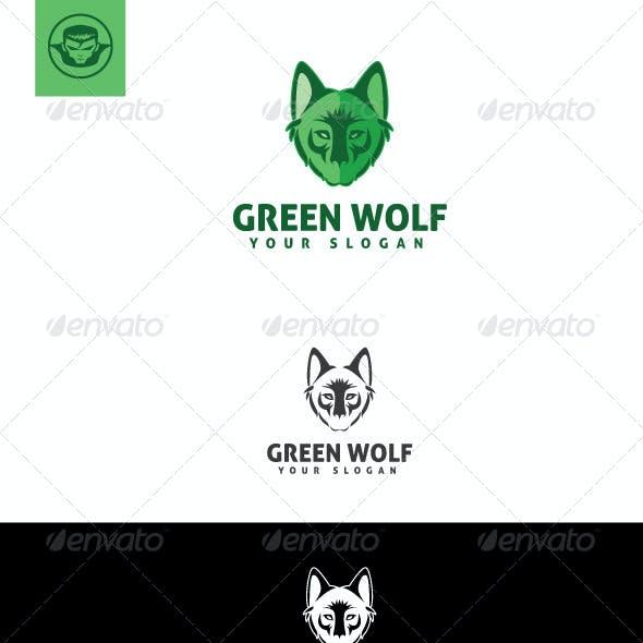 Green Wolf Logo Template