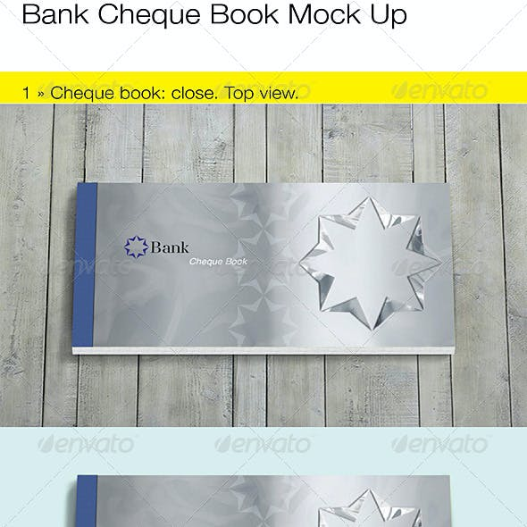 Bank Cheque/Check Book Mock Up