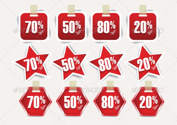 Discount Price Tags - Vectors