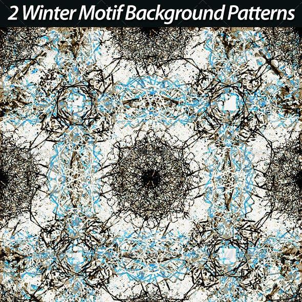 2 Winter Motif Backgrounds Patterns