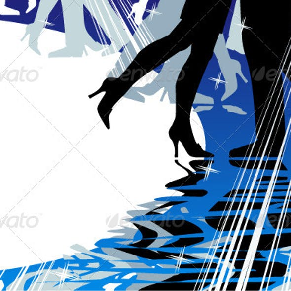 Dancing or Music Background with Copy Space