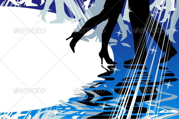 Dancing or Music Background with Copy Space - Sports/Activity Conceptual