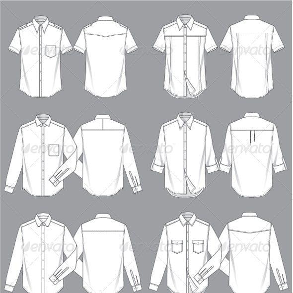 Mens Shirt Template
