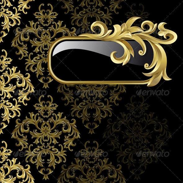 Black and golden background  - Backgrounds Decorative