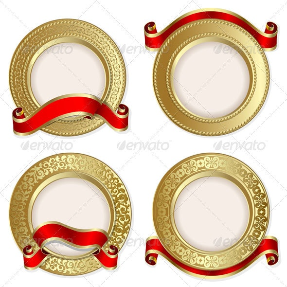Set from  gold backgrounds  - Backgrounds Decorative