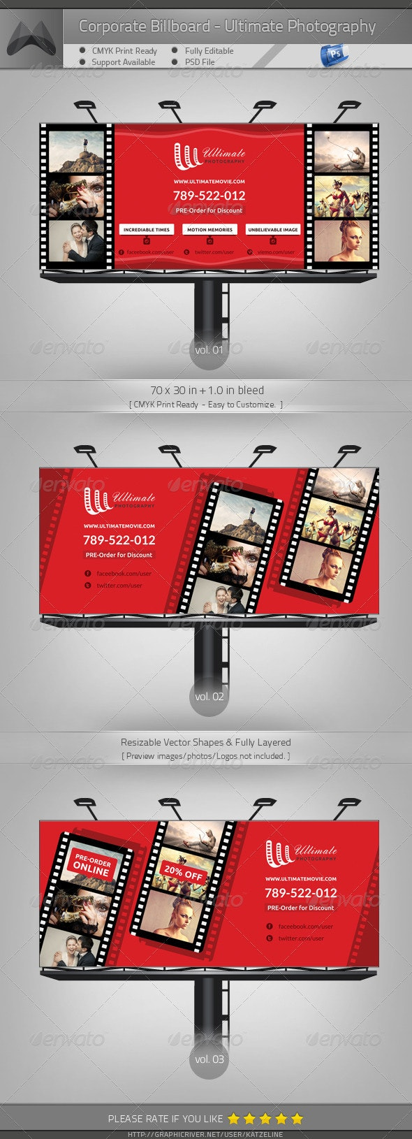 Ultimate Movie/Photography/Image - Billboard - Signage Print Templates