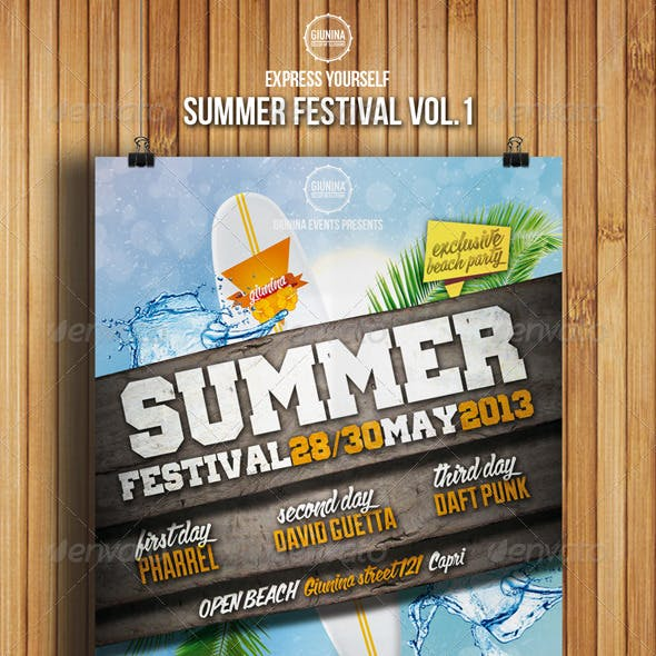 Summer Festival Flyer Vol.1