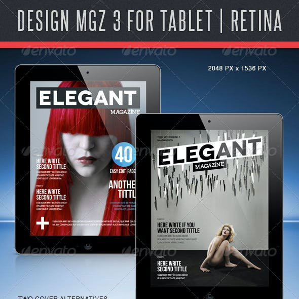 Design MGZ 3 for Tablet