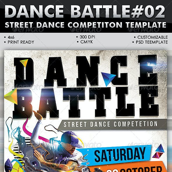Dance Battle Flyer Template Vol_02