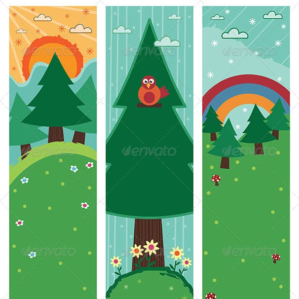 Vertical Nature Banners