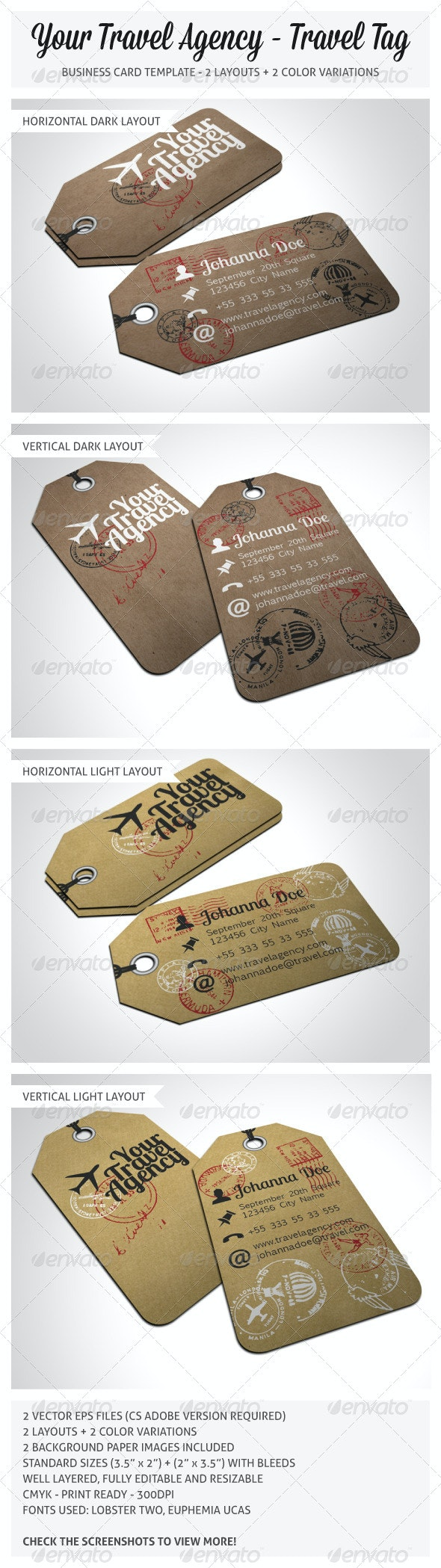 Travel Tag Business Card Template - Real Objects Business Cards