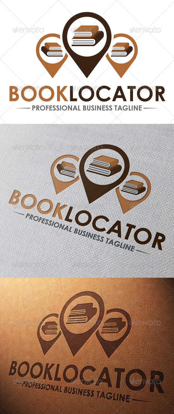 Book Locator Logo Template - Objects Logo Templates