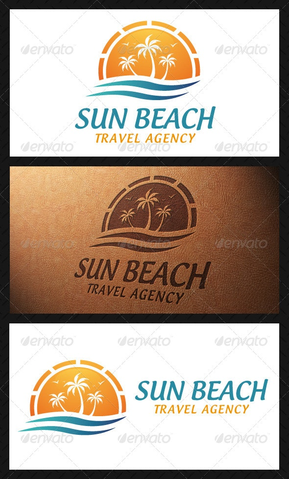 Sun Beach Logo Template - Nature Logo Templates