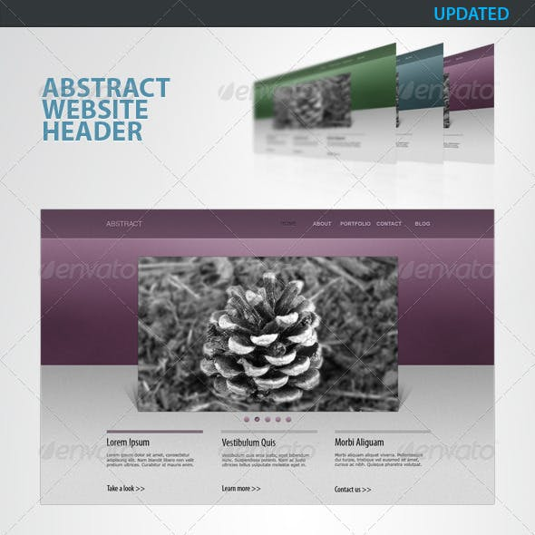 Abstract - Clean Website Header