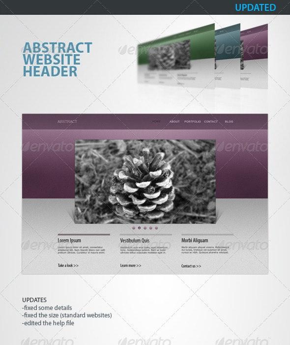 Abstract - Clean Website Header - Navigation Bars Web Elements