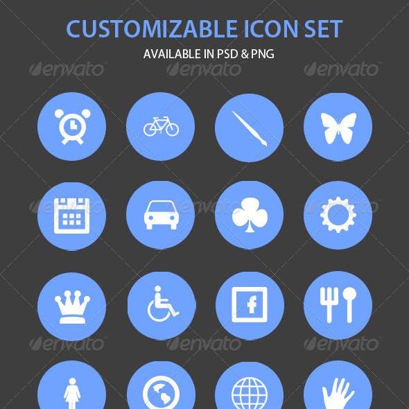 50 Customizable Circle Icons