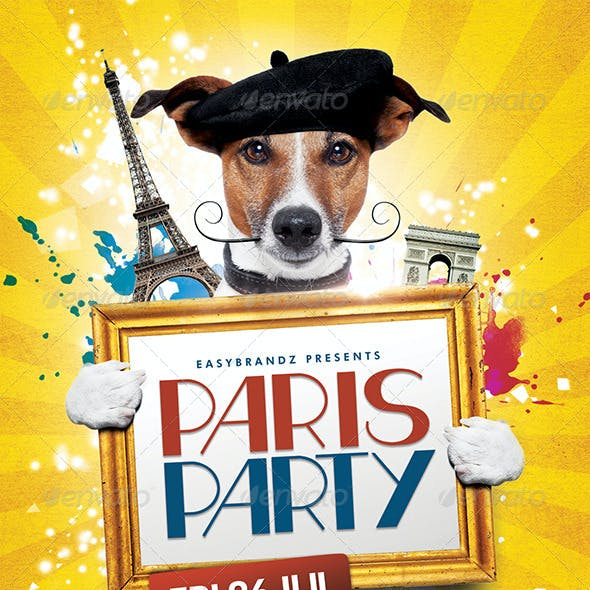 Paris Party Flyer Template