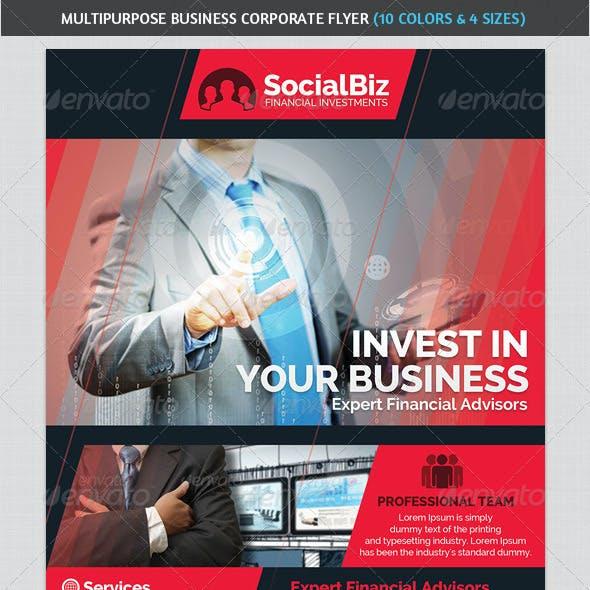 Multipurpose Business & Sales Corporate Flyer