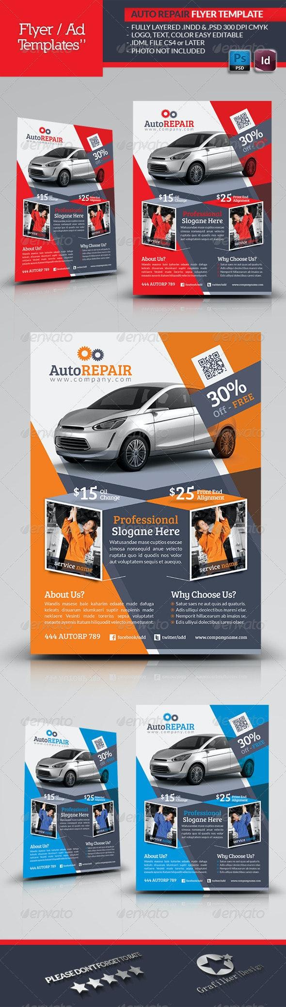 Automobile Repair Flyer Template - Corporate Flyers