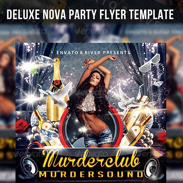 Deluxe Nova Party Flyer Template