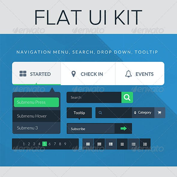 UI Kit - Flat Design