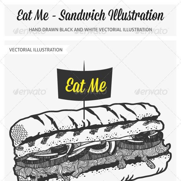 Hand Drawn Sandwich Illustration
