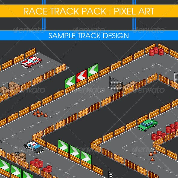 Race Track Pack - Isometric Pixel Art