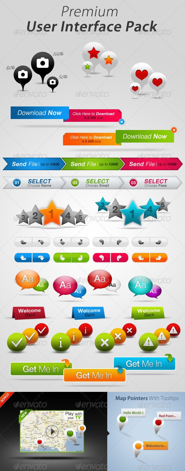 Premium User Interface Pack - User Interfaces Web Elements