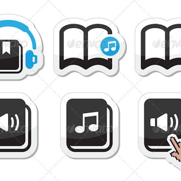 Audiobook Icons Set