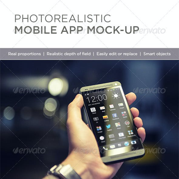 Photorealistic Mobile App Mock-Up