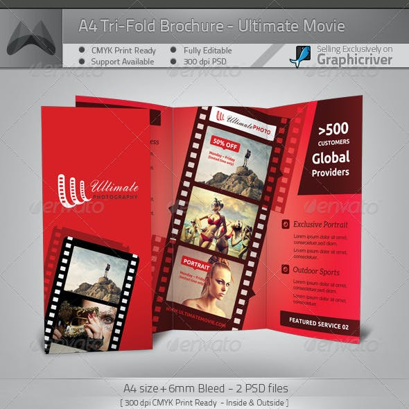 Ultimate Movie/Photography - Tri-Fold Brochure