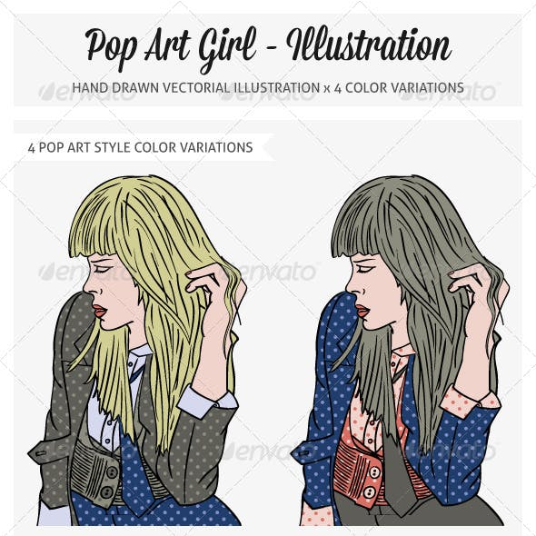 Pop Art Girl Illustration