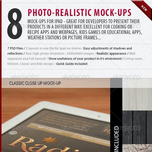 8 Tablet Mock-ups