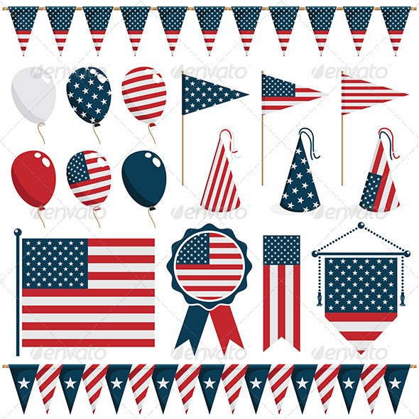 USA Party Decorations - Decorative Symbols Decorative