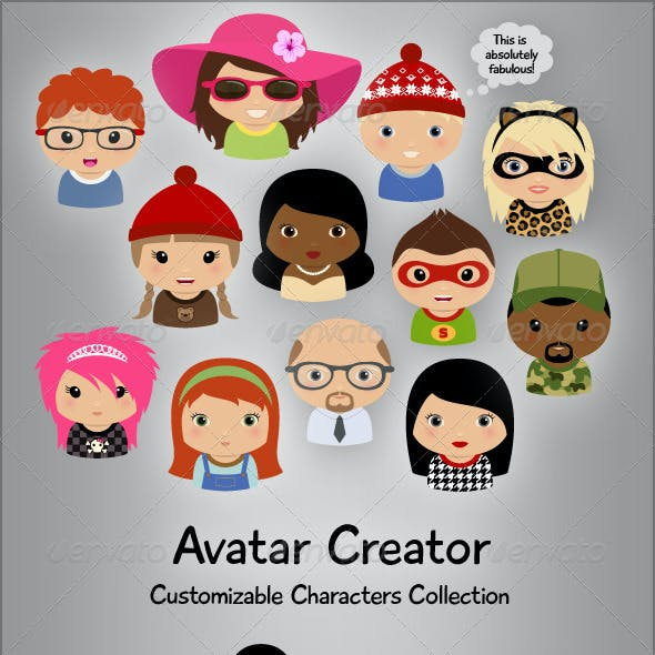 Avatar Creator with Customizable Characters