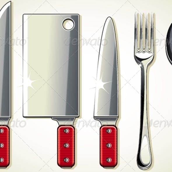 Spoon, Knifes and Fork