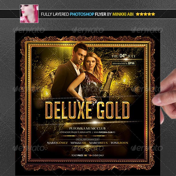 Deluxe Gold Poster/Flyer