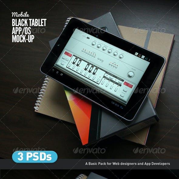 Black Tablet | Android GUI App Mock-Up
